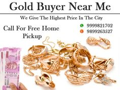 We are the best gold and diamond jewellery buyers, we buy any type of Gold and diamond in any condition either new or scrap or old. We will give you the highest price for your precious metals or ornaments. Call us on 9999333245.