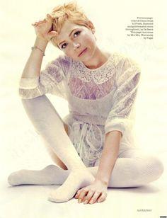 Michelle Williams - Elle by Alexei Hay, December 2011