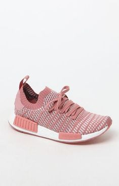 newest e3c6c 8f67b adidas Womens Pink NMDR1 STLT Primeknit Sneakers