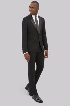 DKNY Slim Fit Black Tuxedo Jacket Nail your look for the next black tie event with this suavely smooth dress jacket from DKNY. Taking inspiration from the vibrant energy unique to the streets of New York, this single-breasted jacket s http://www.MightGet.com/january-2017-12/dkny-slim-fit-black-tuxedo-jacket.asp