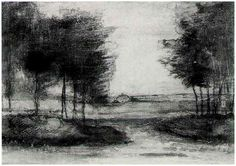 Landscape with trees - Van Gogh