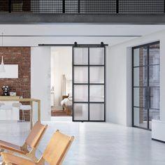 Glass Barn Doors, Sliding Glass Door, Indoor Sliding Doors, Indoor Glass Doors, Home Office, Sliding French Doors, Modern Sliding Doors, Interior Barn Doors, Modern Barn Doors