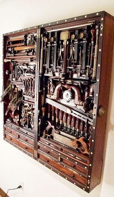 Side view so narrow! H O Studley Tool Cabinet