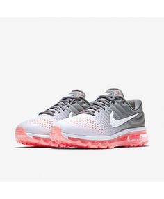 timeless design 81b52 c11a4 Women s Nike Air Max 2017 Pure Platinum Cool Grey Hot Lava White