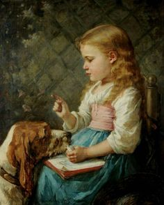 Madeleine Jeanne Lemaire, Girl with Dog