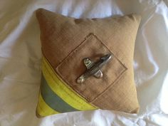 """Cute pillow for the """"Passing of the Rings"""" portion of the wedding ceremony :-)"""