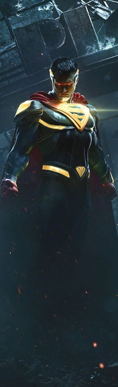SUPERMAN AWESOMENESS injustice 2 game art DC comics