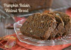 Pumpkin Raisin Walnut Bread