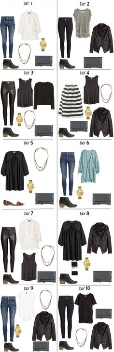 10 Days in Stockholm Sweden Packing Light List Night Looks Capsule Wardrobe, Travel Wardrobe, Black Booties Outfit, How To Have Style, Lit Outfits, Packing Outfits, Travel Outfits, Packing Light, Night Looks