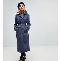 Browse online for the newest ASOS DESIGN Petite longline classic mac styles. Shop easier with ASOS' multiple payments and return options (Ts&Cs apply). Coats 2018, Mantel Trenchcoat, Coats For Women, Ladies Coats, Langer Mantel, Double Breasted Trench Coat, Asos Petite, Long A Line, Raincoat