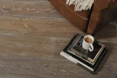 Handscraped Deep Smoke White Wash Oil Engineered Oak. The natural grade finish of our smoked whitewashed oak floor has a real vintage feel to create a stunning 'latte' coloured floor. #whitewashedoakfloor #darkoakflooring