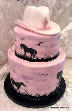 Pink Cowgirl Cake - For all your cake decorating supplies, please visit craftcompany.co.uk