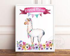 This cute NO PROB-LLAMA PRINT is available from Adorn My Wall on Etsy #LlamaPrint #Llamagifts #LlamaPrintable #Noprobllama #adornmywall #etsy #printable #llama