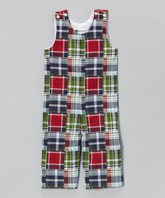Loving this Red & Blue Plaid Overalls - Infant & Toddler on #zulily! #zulilyfinds