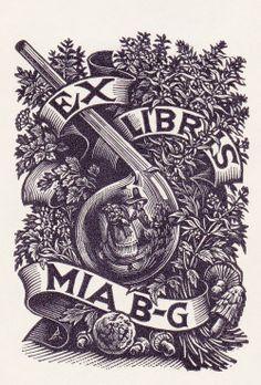 ≡ Bookplate Estate ≡ vintage ex libris labels︱artful book plates - Nico Bulder