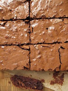 Recipe for Gluten-Free Brownies (Brown rice flour and tapoica flour) Allergy Free Recipes, Gf Recipes, Sweet Recipes, Dessert Recipes, Gluten Free Sweets, Gluten Free Baking, Grain Free, Dairy Free, Rice Flour Recipes