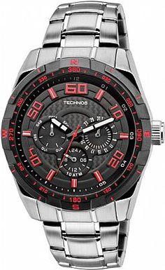 74d84a3256b Relógio Masculino Technos Sports 6P79AI 1R