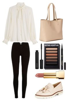 """""""Style #360"""" by maksimchuk-vika ❤ liked on Polyvore featuring L'Oréal Paris, Old Navy, Stuart Weitzman, Closed, River Island and Yves Saint Laurent"""