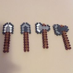 Minecraft items perler beads by saladbrains