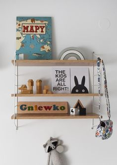 Kids are all right, poster, black and white decorations. Shelves decoration at children room. Taki Papier posters
