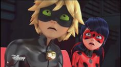 When Cat Noir saw a picture of ladybug kissing him