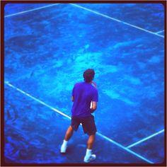 "Roger Federer @MutuaMadridMasters. Federer ""blues""!"