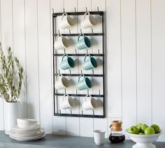 Shop vintage blacksmith wall mug rack from Pottery Barn. Our furniture, home decor and accessories collections feature vintage blacksmith wall mug rack in quality materials and classic styles. Home Decor Kitchen, New Kitchen, Kitchen Ideas, Antique Kitchen Decor, Kitchen Designs, Apartment Kitchen Decorating, Modern Kitchen Wall Decor, Simple Apartment Decor, Closed Kitchen