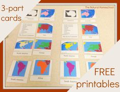 The Natural Homeschool: Continent Studies with Preschoolers (FREE Printables included)