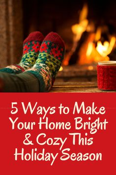 5 Ways To Make Your Home Bright & Cozy This Holiday Season  #christmas #holiday #interiordesign #livingroom #december #designideas