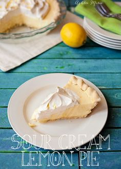 "This sour cream lemon pie is my ""go-to"" pie. EVERYONE loves it and the recipe turns out perfect every time"