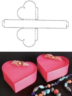 DIY Patterns of Candy Gift Box Heart gift box templateHeart gift box template Candy Gift Box, Diy Gift Box, Candy Gifts, Diy Box, Diy Gifts, Small Gift Boxes, Small Gifts, Diy Paper, Paper Crafts