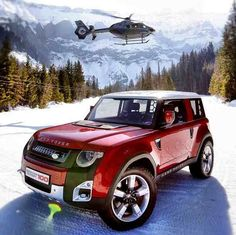 Land Rover DC100, looks like a Nissan Xterra front clip , & a Mini cooper mid & back half. I like it.