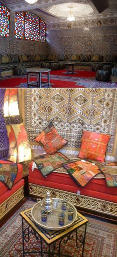 Tourism in Morocco: Fassi traditional saloon