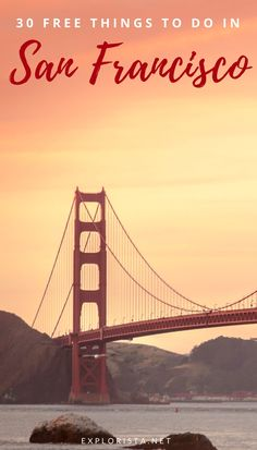 San Francisco in California is one of the most expensive cities in the USA and the world. But here are 30 things to do for free if you're on a budget! #thingstodoinsanfrancisco #sanfrancisco