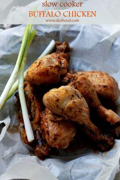 Slow Cooker Buffalo Chicken. Slow cooked, spicy and delicious Buffalo Chicken drumsticks.