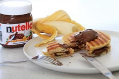 Nutella and Banana Pancake Jaffle made with Marcel's Happy Pancakes