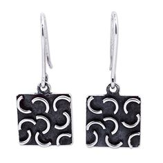 NOVICA .925 Sterling Silver Dangle Earrings 'New Moon Squares' >>> You can find out more details at the link of the image.