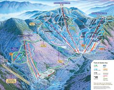 The Smugglers' Notch Resort Trail Map is your guide to the Resort's 3 mountains and 78 trails. Vacation Wishes, Ski Vacation, Vacation Spots, Vermont Winter, Stowe Vermont, Winter Fun, Winter Travel, Winter Sports, Ski Mountain