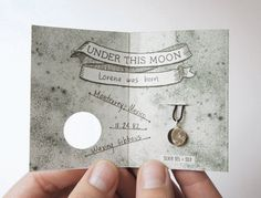 UNDER THIS MOON / Bracelet - Customized lunar phase charm of your special night in silver and silk, astronomy, black, red, crescent (neat for birth gift)