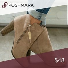 Natural Booties Faux Natural Suede Booties Shoes Ankle Boots & Booties