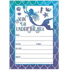 Free Printable Mermaid Birthday Party Invitations Best 25 Mermaid