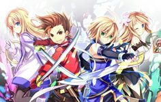 Collete, Lyold, Emil, Marta - Tales of Symphonia DONW