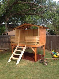 backyard fort plans – 2018 Home Design And Remodeling Backyard Playset, Backyard Swings, Backyard Playground, Backyard For Kids, Backyard Ideas, Kids House Garden, Playground Kids, Backyard Playhouse, House Yard