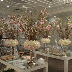 Discover thousands of images about Cherry Blossom Enchanted Garden theme wedding reception Floral Centerpieces, Table Centerpieces, Wedding Centerpieces, Wedding Table, Floral Arrangements, Wedding Reception, Centrepieces, Garden Wedding, Wedding Ideas