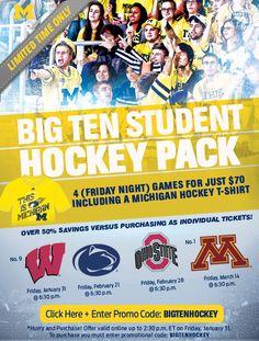 Michigan Hockey E-mail Promotion | Sports Marketing Creative