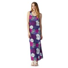 The Collection Navy large floral print maxi dress- at Debenhams.com