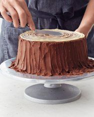 Frosting the Yule-Log Layer Cake