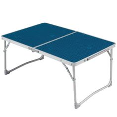 35 - Hiking Camping - Low folding table blue QUECHUA - Camping Equipment and Furniture Folding Coffee Table, Folding Camping Table, Table Camping, Backyard Camping, Camping Ideas, Camping Furniture, Outdoor Furniture, Outdoor Decor, Judo