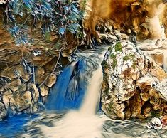 """""""Beautifull land with waterfall"""" by Phillicius Picture Wall, Decorative Throw Pillows, Cool Pictures, Waterfall, How To Draw Hands, Nice, Artist, Painting, Accent Pillows"""