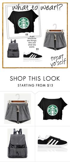 """""""STARBUCKS!!"""" by wonderfullyawesome ❤ liked on Polyvore featuring adidas"""